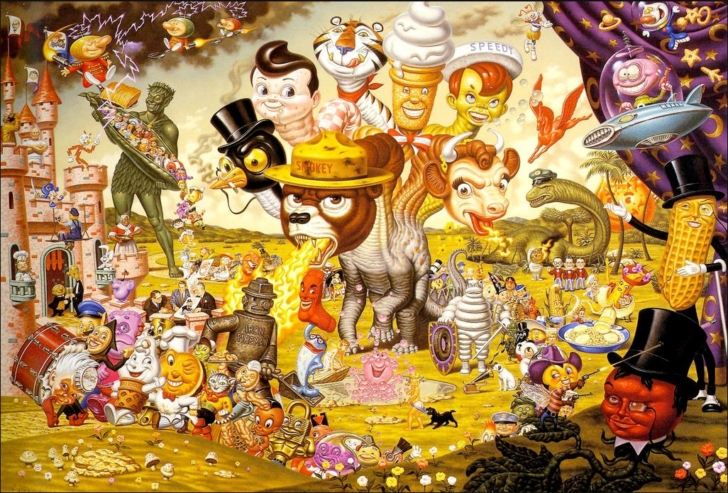 Age of America 2 todd schorr hydra big screen America