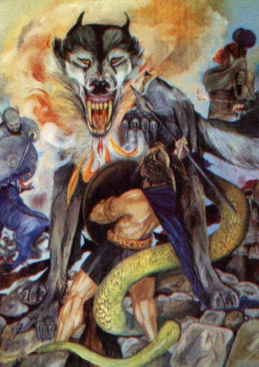 Fenrir eats Odin